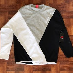 New balance tricolor sweater.